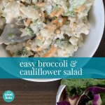 low carb cauliflower salad